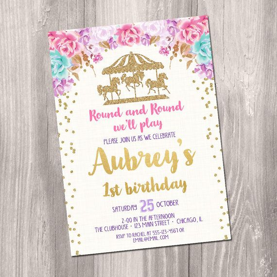 carousel birthday invitation carousel invites carousel party