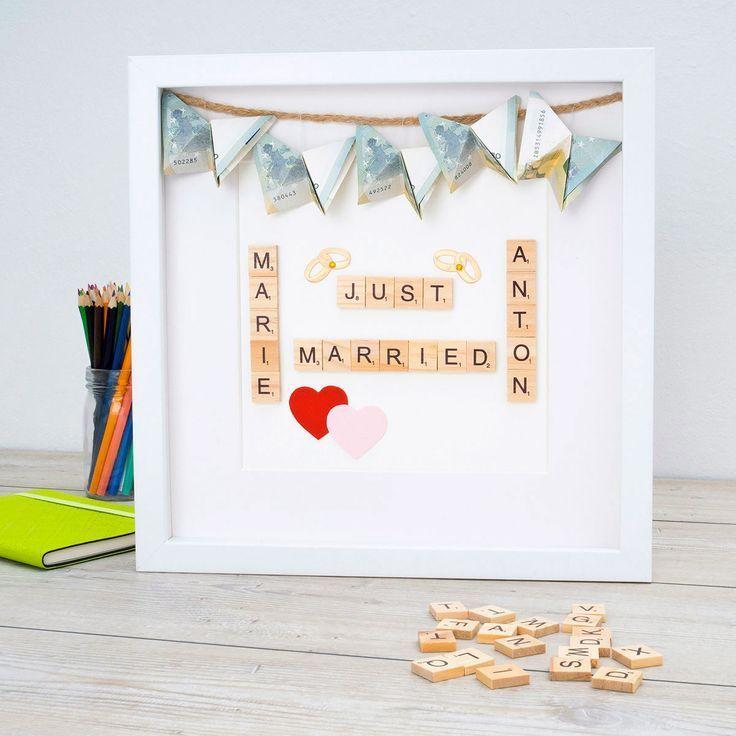 Bilderrahmen eignen sich ideal als Hochzeitsgeschenk. Geldgeschenke k   – Diy de…