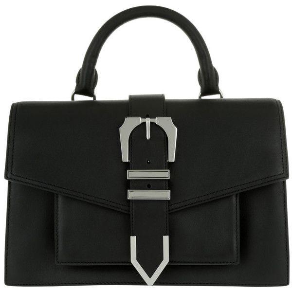 fc8c6fe691505 Versus Versace Shoulder Bag - Buckle Handle Bag Black-Nickel - in ...