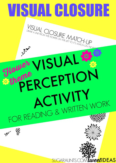 Visual Closure Flower Match Up Activity Activities For