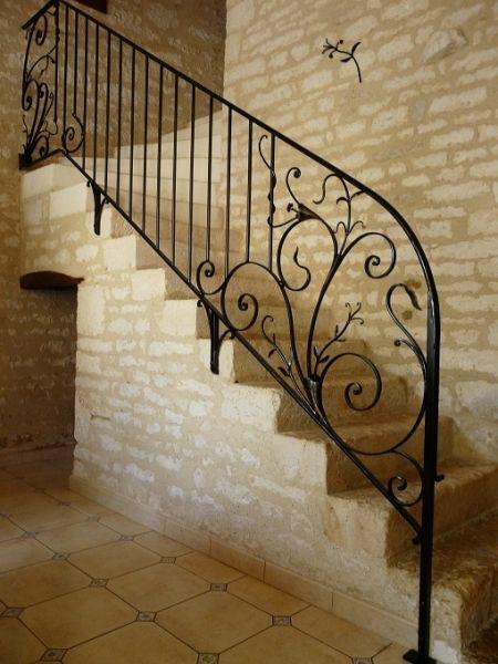 rampe d 39 escalier fer forg. Black Bedroom Furniture Sets. Home Design Ideas