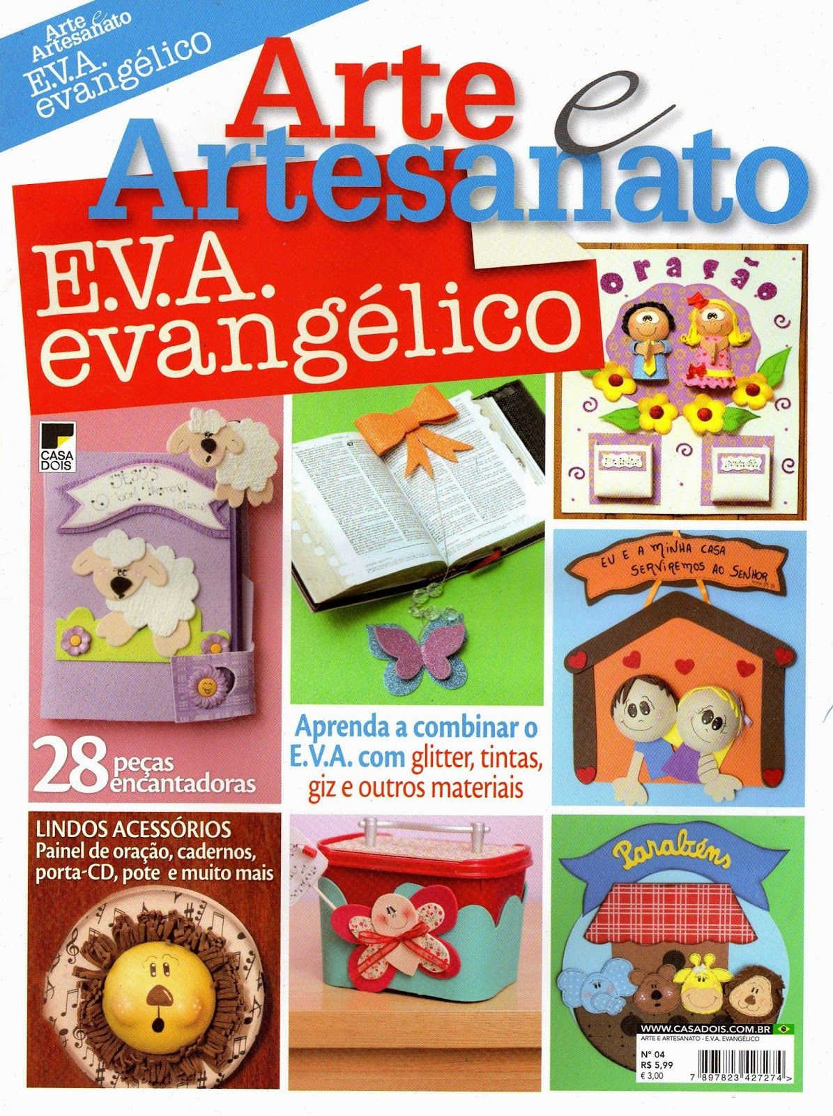 Amado Escola Dominical Infantil ツ: Arte e Artesanato EVA Evangélico  XM88