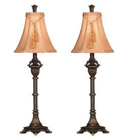 Lowes....Kenroy Home 2-Piece Metallic Bronze Lamp Set with Fabric ...