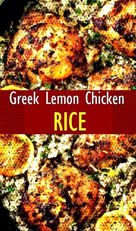Greek Lemon Chicken and RiceGreek Lemon Chicken and RiceGreek Lemon Chicken and Rice