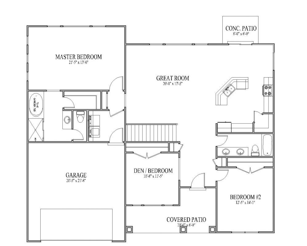 Simple small house floor plans the sadona floor plan for Small minimalist house plans