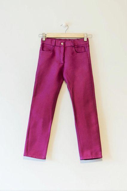 Image of Pantalón  púrpura cinco bolsillos niña