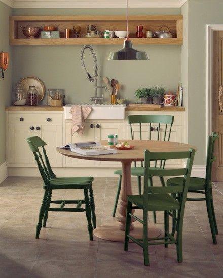 Repeindre Des Chaises En Bois Home Decor Kitchen Green Kitchen Walls Kitchen Style