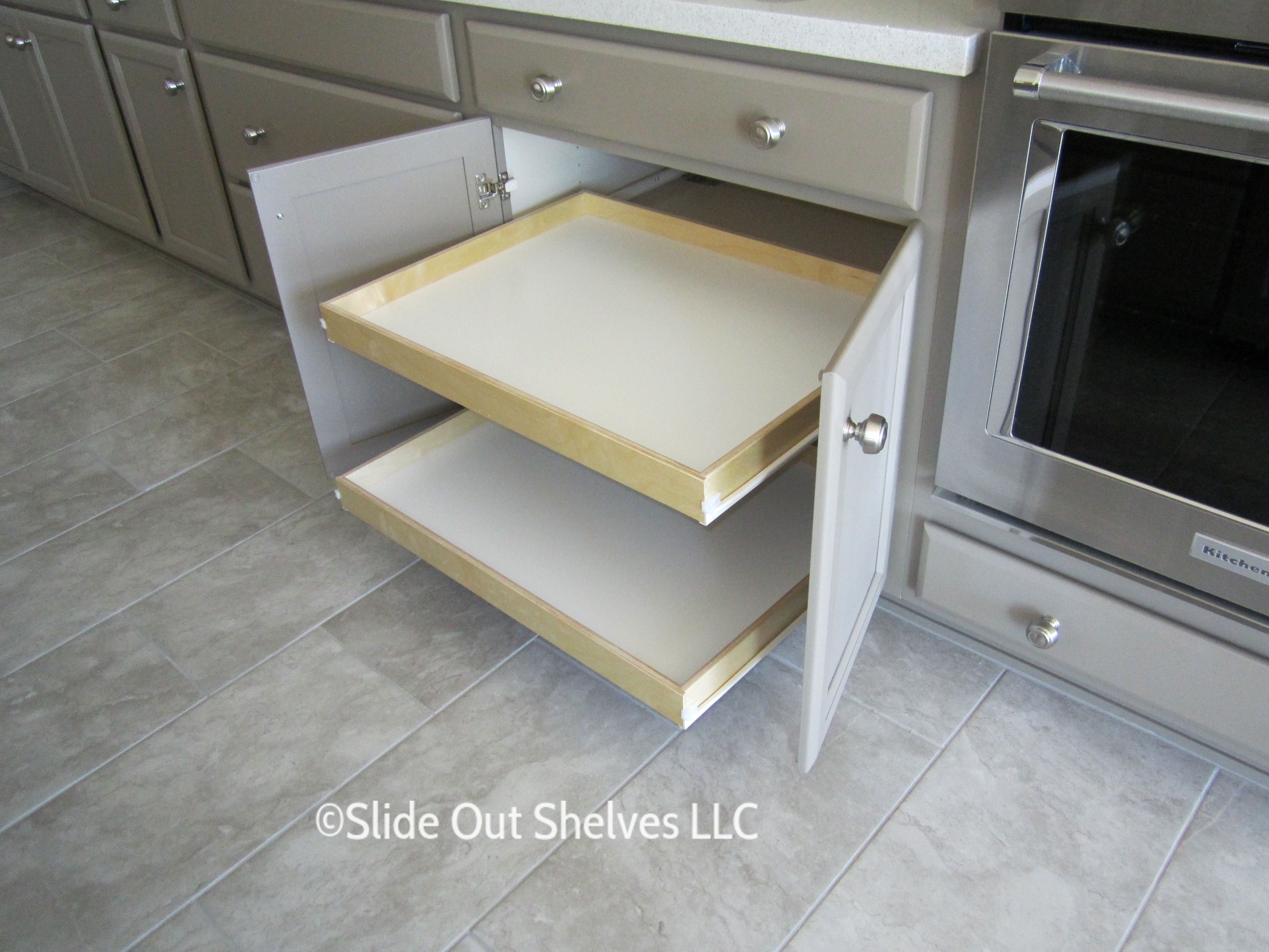 Pull Out Shelf For Kitchen Cabinets 26 36 Wide Pull Out Kitchen Shelves Kitchen Shelves Slide Out Shelves