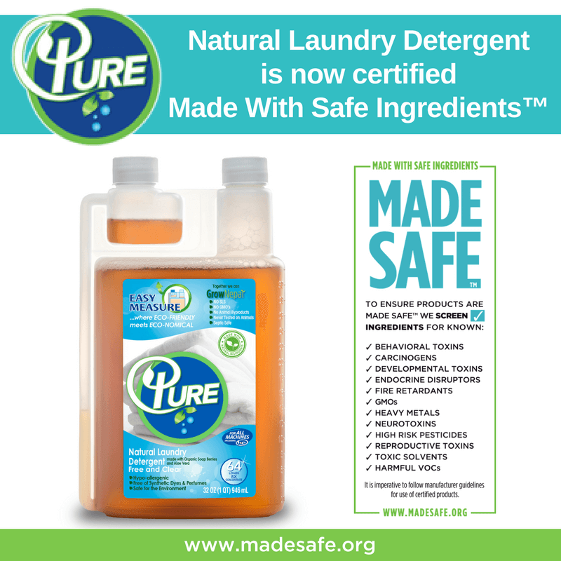 Introducing Made Safe Certified Pure Natural Laundry Detergent