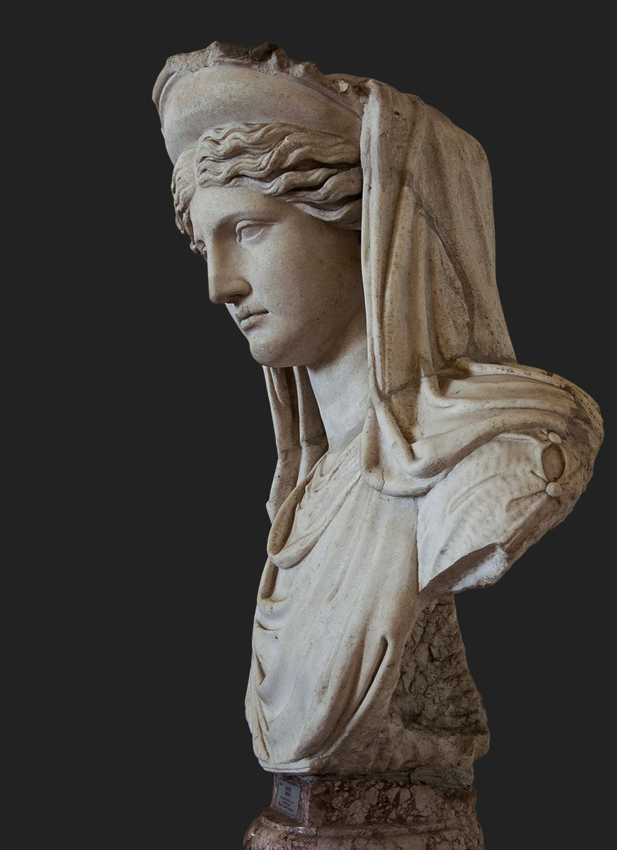Demeter Ludovisi. Roman copy of the 2nd century CE of a Greek model of the 5th—4th centuries BCE. Rome, Roman National Museum, Palazzo Altemps. Photo by Sergey Sosnovskiy. #greekstatue