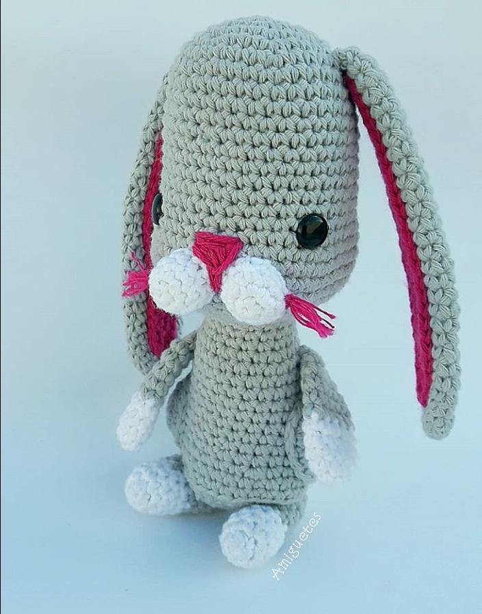 bunny #crochet #handmade #amigurumi #conejo #ganchillo #patron ...