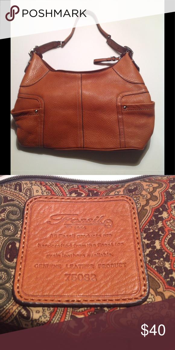 Fossil Leather Shoulder Bag 75082 Tan Soft Bags