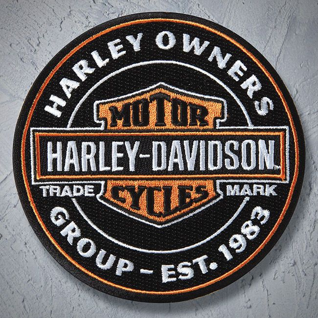Genuine HARLEY DAVIDSON 4 inch HOG EMBROIDERED PATCHES