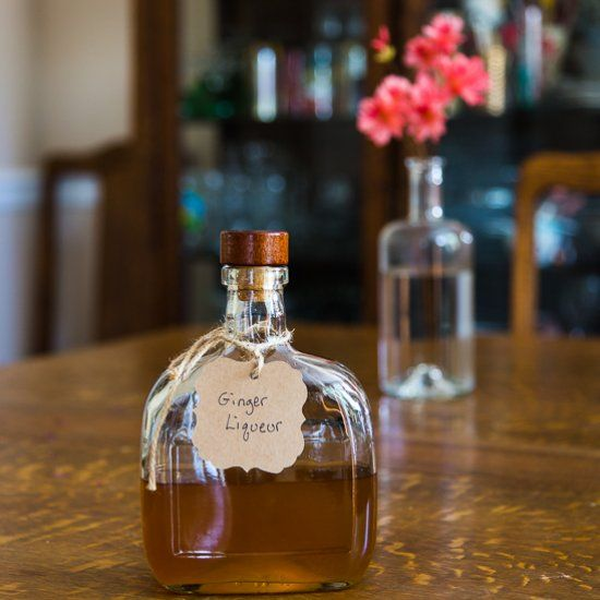 This DIY Homemade Ginger Liqueur is warm, rich and smooth and oh so easy to prepare!