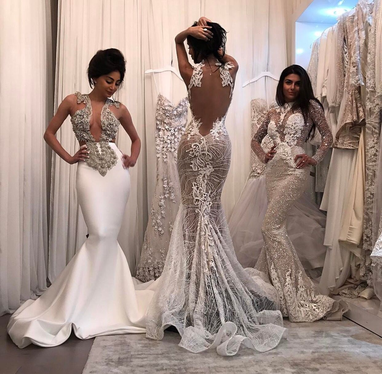 Follow br0nzed beauty for more luxury ig sharonemel for Diamond mermaid wedding dresses
