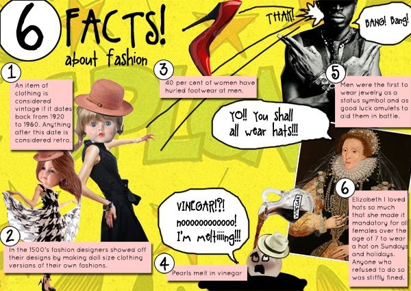 6 Interesting Facts About Fashion Fashion Fashionfacts Designer Vintage Dolls Footwear Fashionhistory Hats Mens Elizabet Cool Style Fun Facts Facts