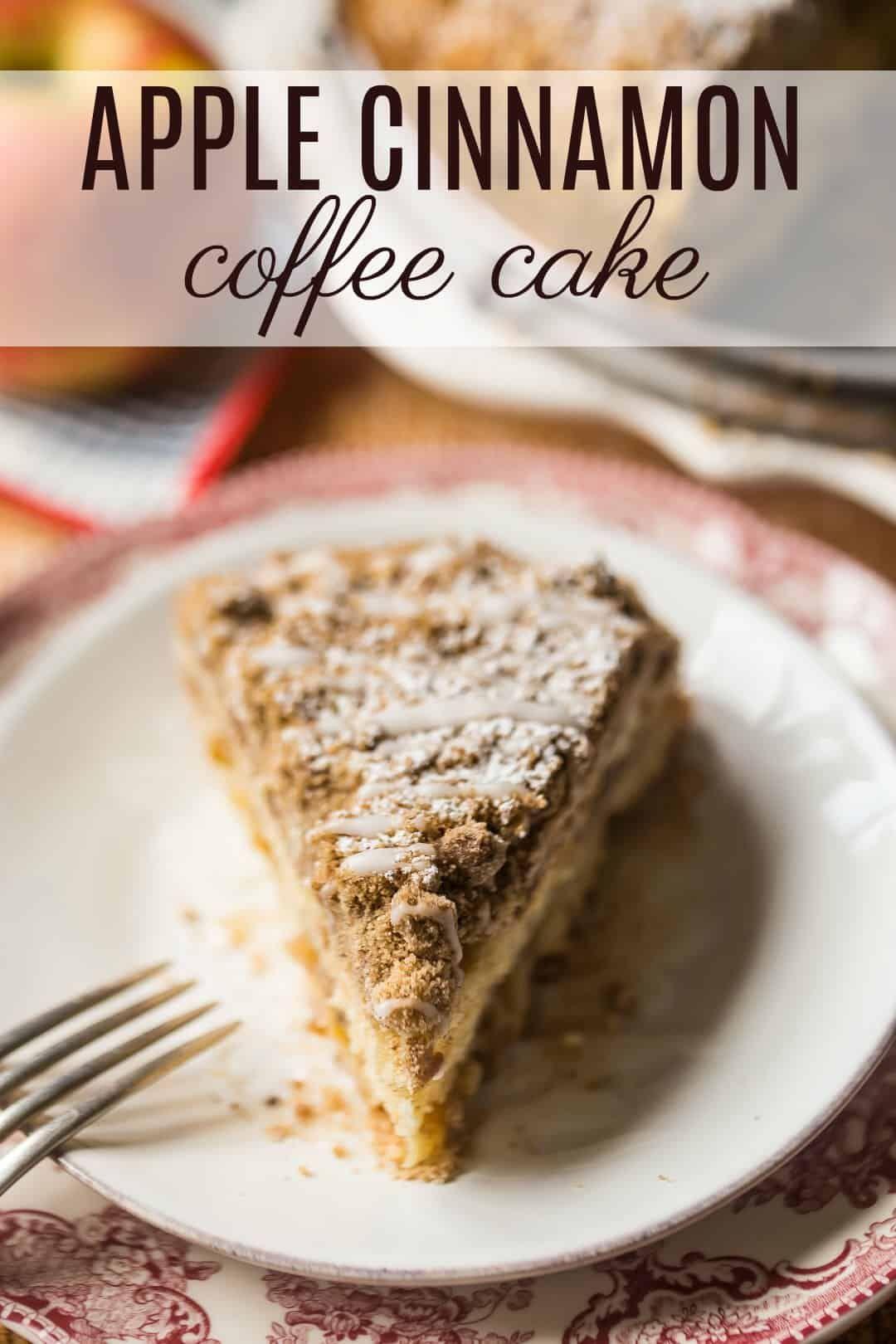 Apple Coffee Cake Moist Sour Cream Cake Layered With Juicy Apples Cinnamon Spiced Crumb Topping So Nice For Apple Coffee Cakes Coffee Cake Sour Cream Cake