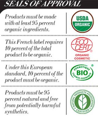 Organic beauty product seals
