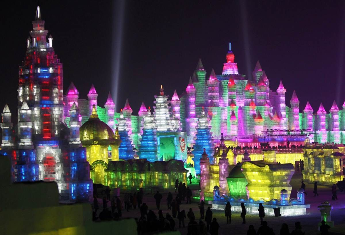 It S The 27th Harbin International Ice Snow Festival In China