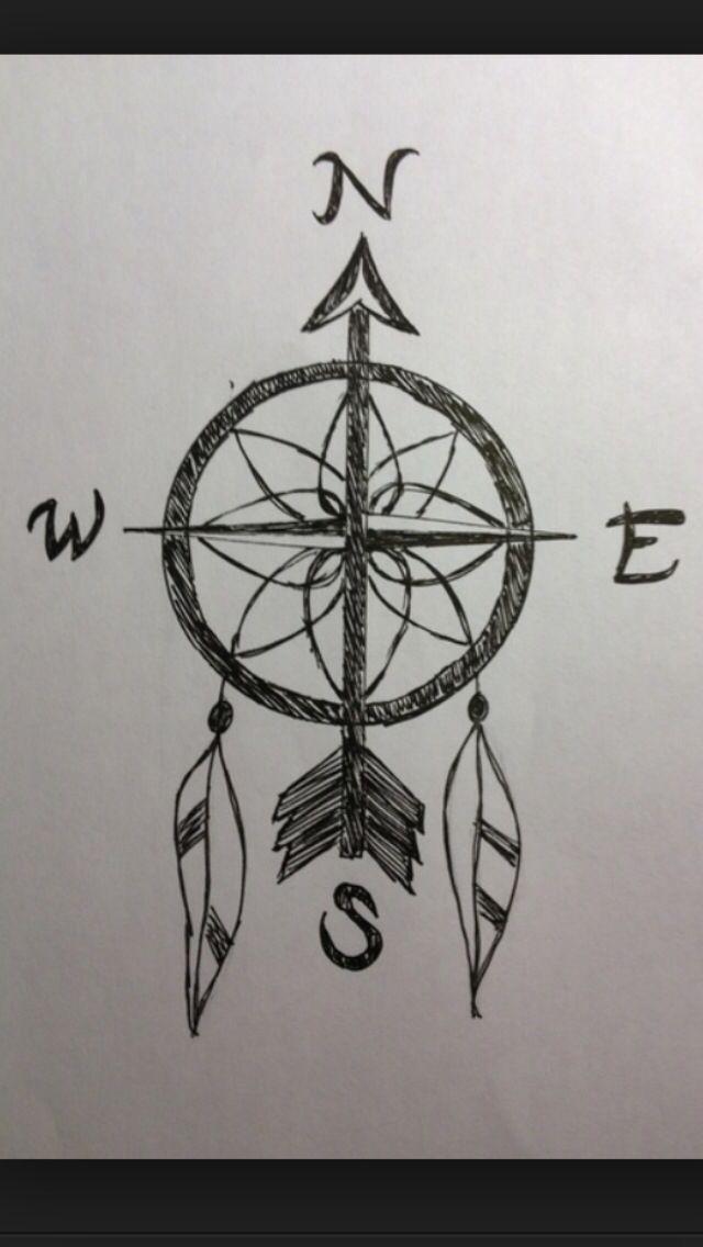 Dream catcher compass | Tattoos, Compass tattoo, Tattoo ...