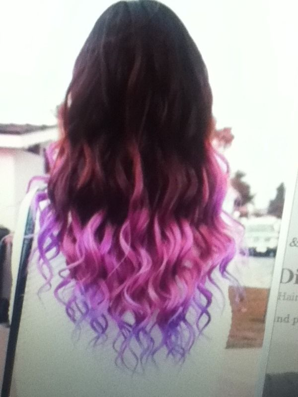Not Exactly Ombre Hair But With The Pink Fading Into Purple At The