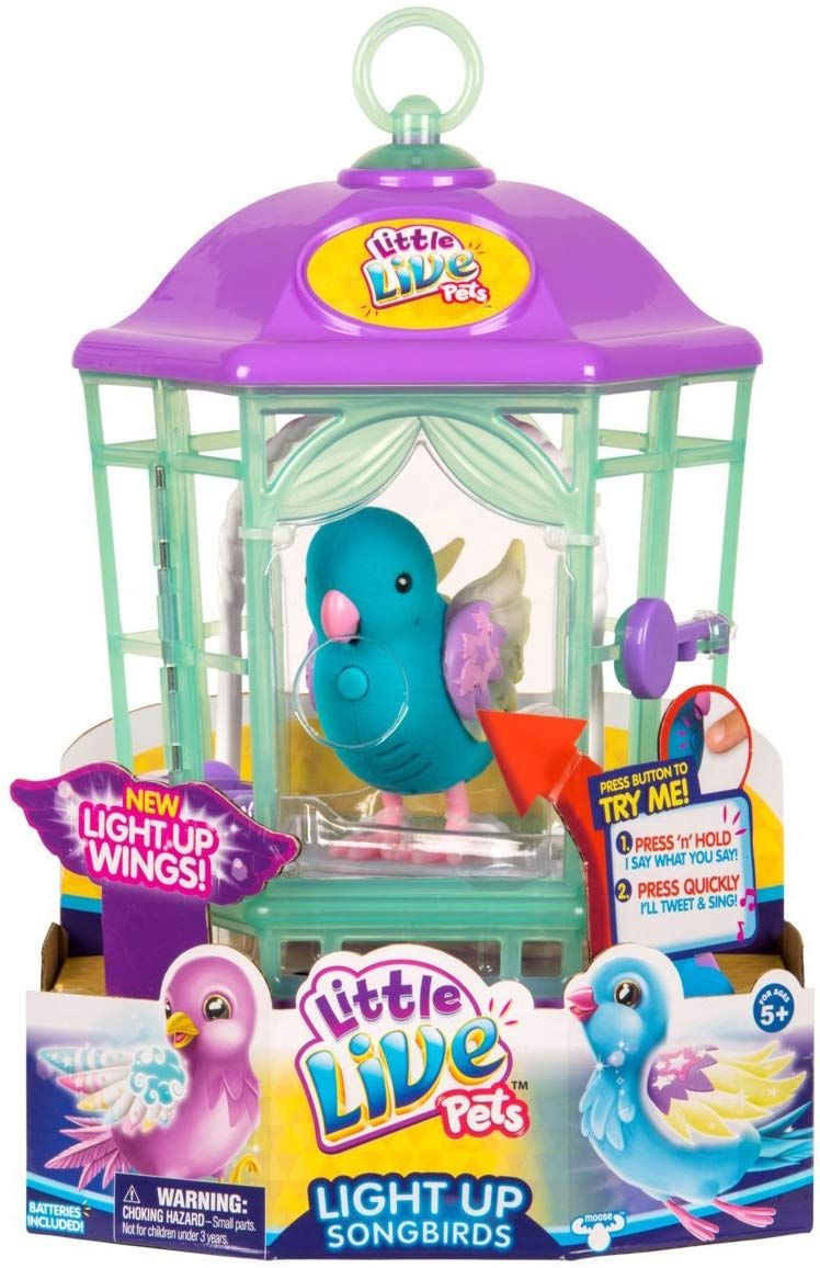 Little Live Pets Bird With Cage Twinkle Tweets Childrens Toy