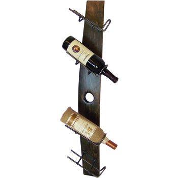 4 Bottle Tilt Barrel Stave Wine Rack