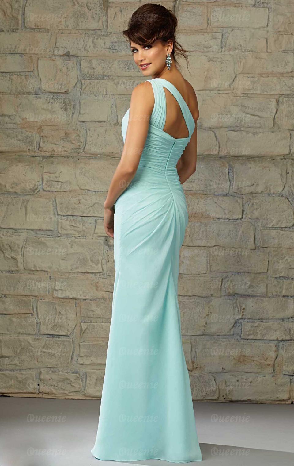 Unusual Chiffon Blue Green Bridesmaid Dresses BNNCA0004-Bridesmaid ...