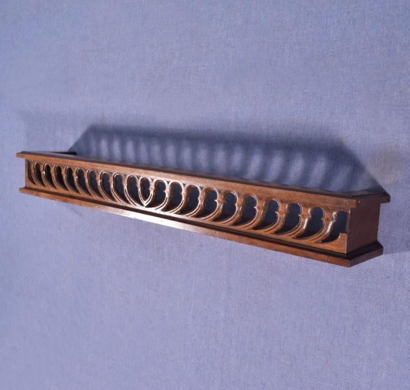 Best 26 Antique French Shelf Plate Rail In Solid Walnut Wood 400 x 300