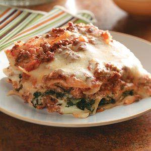 Ground Beef Spinach Alfredo Lasagna | Receta | Comida, Recetas y ...