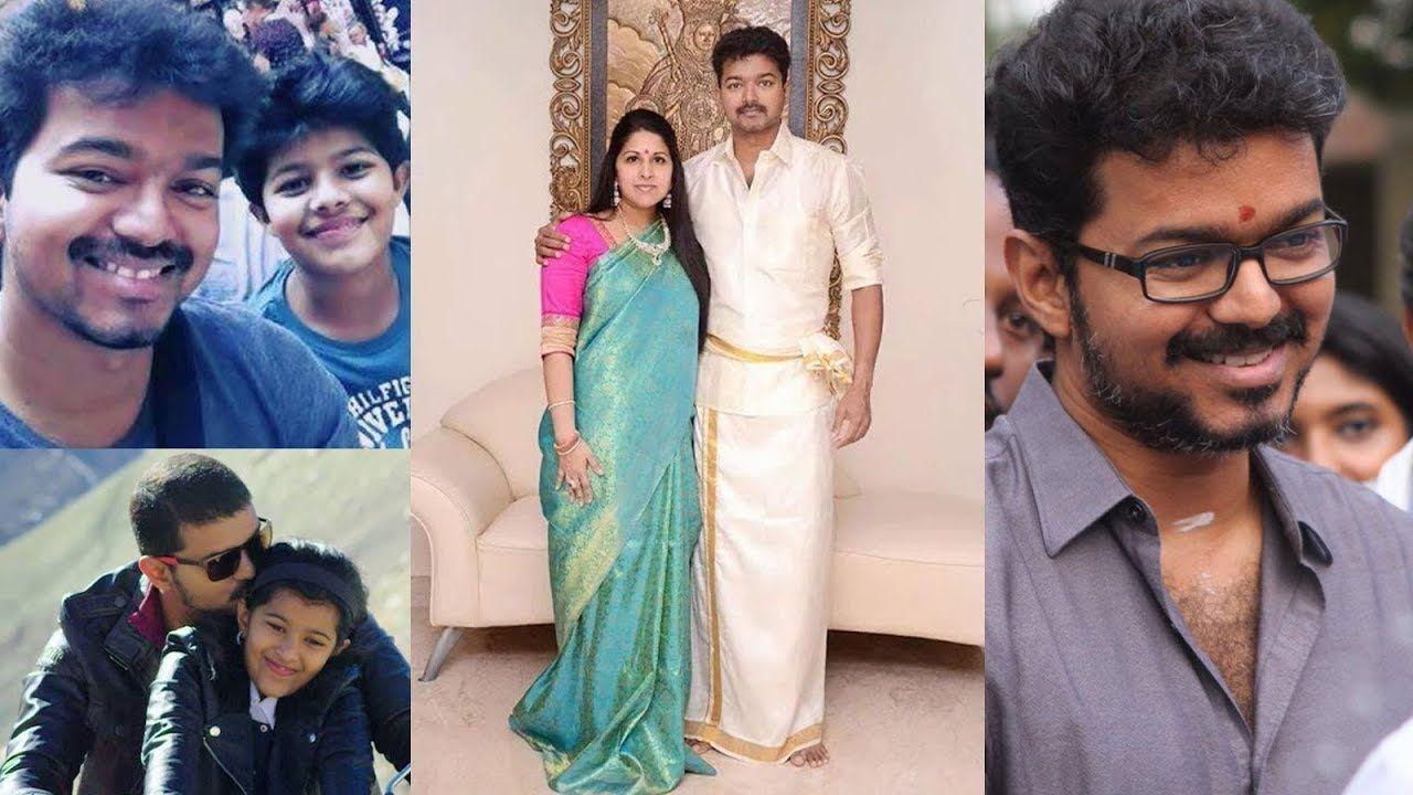 Actor Vijay Family Photos / Mersal Actor Vijay with Parents, Wife