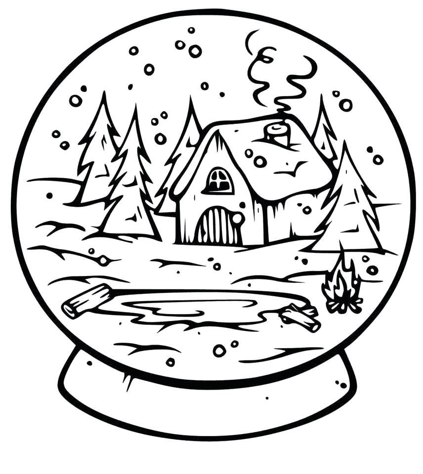 Snowglobe Coloring Pages - Best Coloring Pages For Kids ...