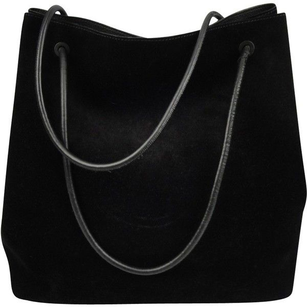 Pre Owned Suede Handbag 745 Liked On Polyvore Featuring Bags Handbags Black Gucci Pouch Crossbody Shoulder Bag