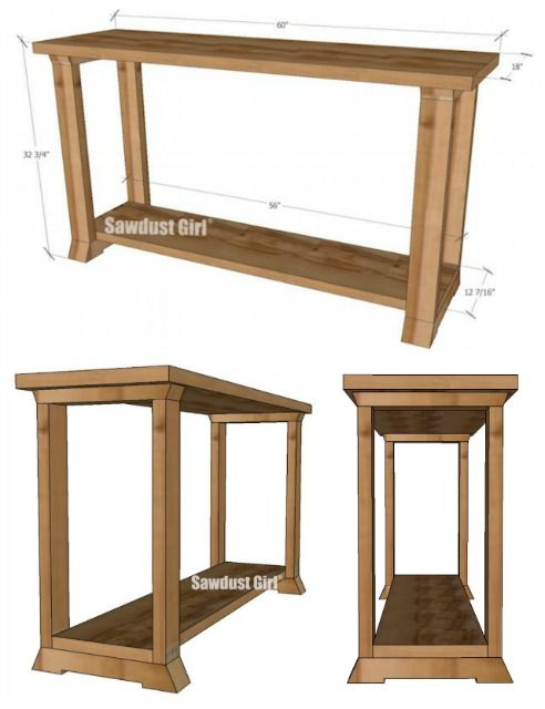 console table woodworking plans sawdust girl small wood projectseasy diy - Easy Homemade Furniture Plans