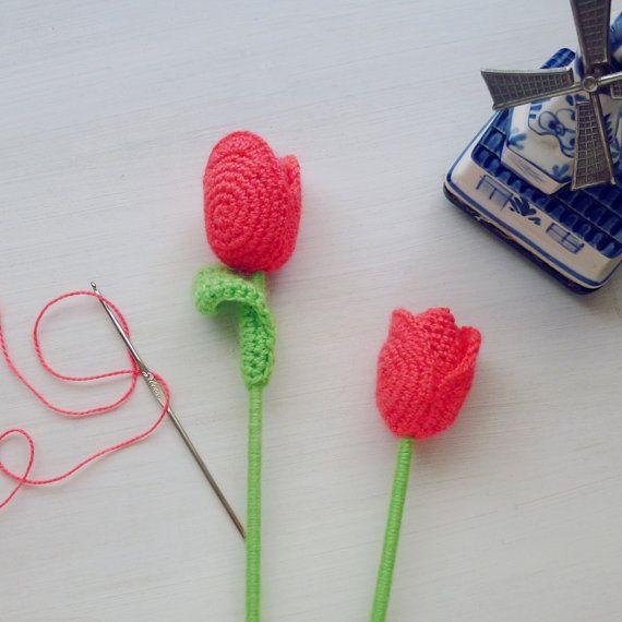 Tulip flor del ganchillo patrón PDF Crochet Patrón Fácil por bySol ...