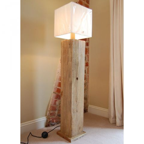 Katigi Reclaimed Wood Floor Lamp Lightsworld Wooden Floor