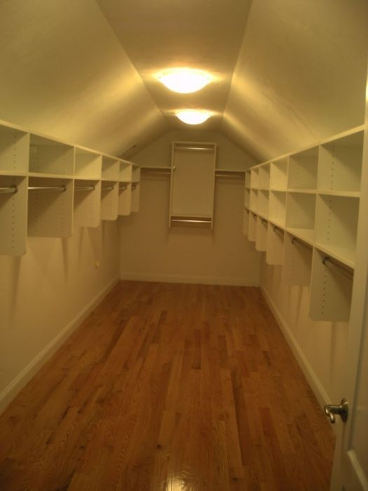 Sloped Celing Walk In Closet Master With Sloped Ceiling