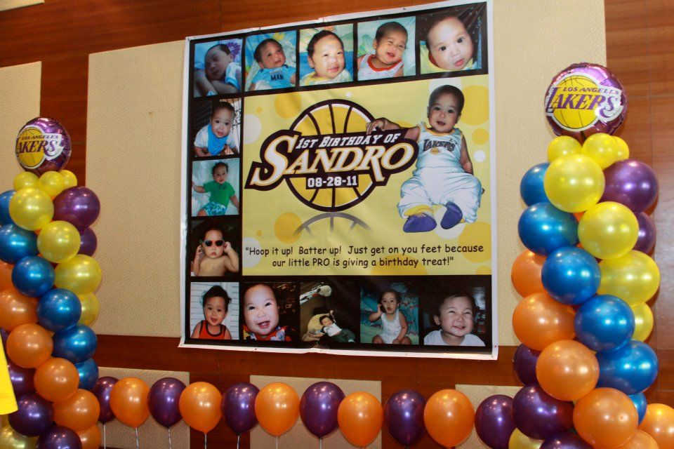 Basketball LA Lakers Birthday Party Sandro's 1st