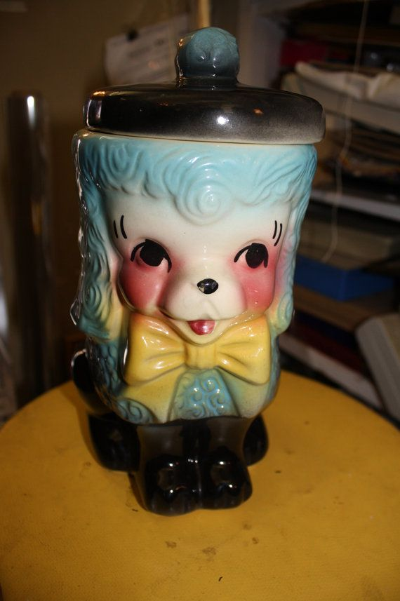 Adorable American Bisque French Poodle Cookie Jar