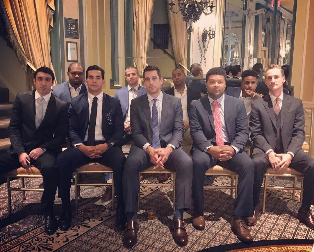 Aaron Rodgers And Jordy Nelson All Pro Groomsmen At Randall Cobb S Wedding Jordy Nelson Aaron Rodgers Green Bay Packers Baby