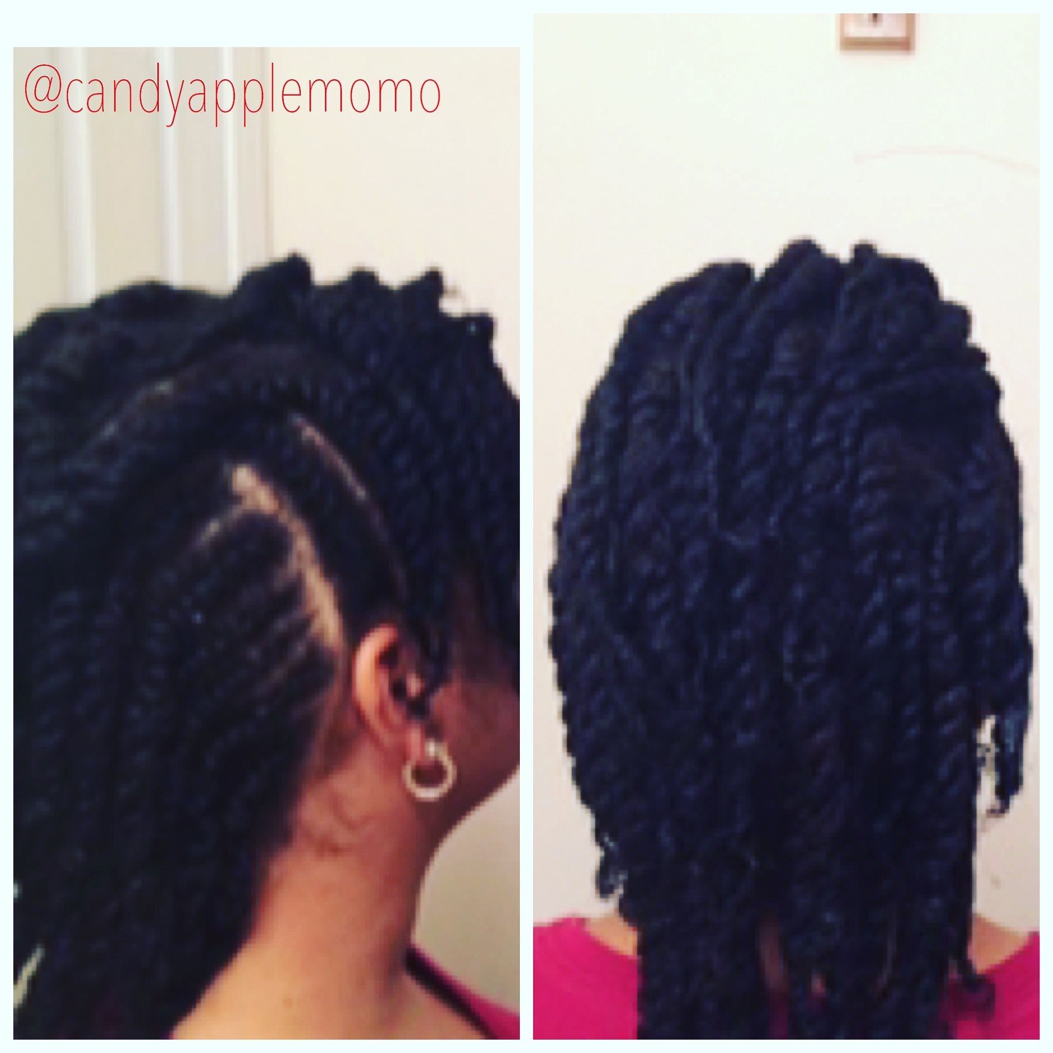 Easy Curly Braided Mohawk On Natural Hair Ft Mielle Organics