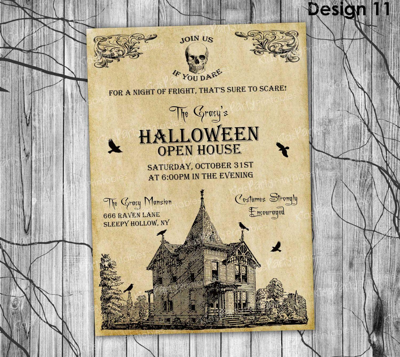 HALLOWEEN INVITATION Printable, Adult Halloween Invitation ...