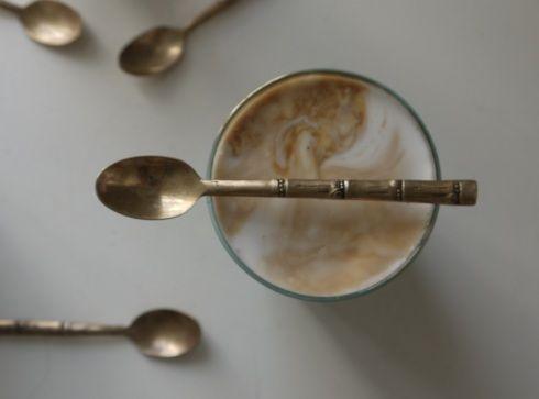 Iced coffee coconut drink recipe