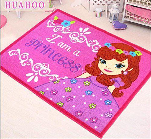 Huahoo Pink Rug S Kids Childrens Rugs Baby Nursery Rugskids Carpet Bedroom