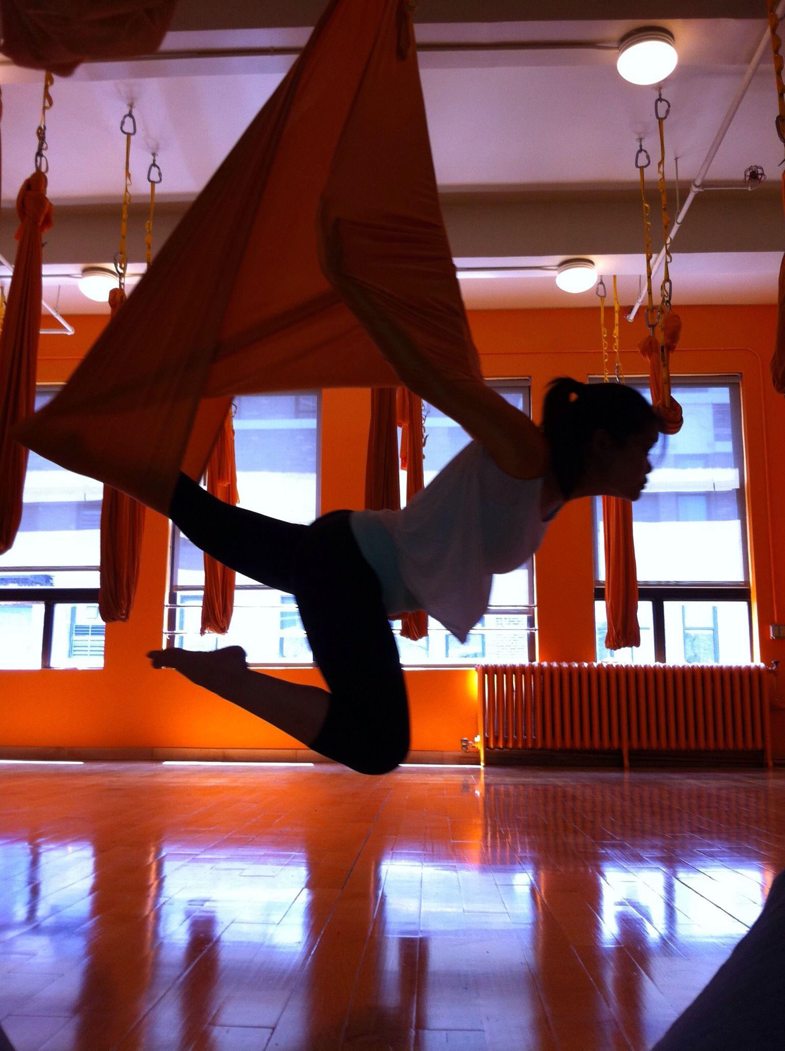 Vampire Pose Ariel Yoga At Om Factory Nyc Aerial Yoga Aerial