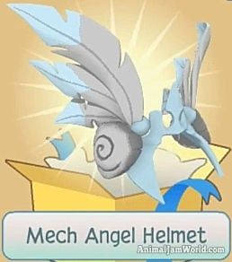 Mech Angel Helmet Wings AnimalJam Items MechAngel Rares