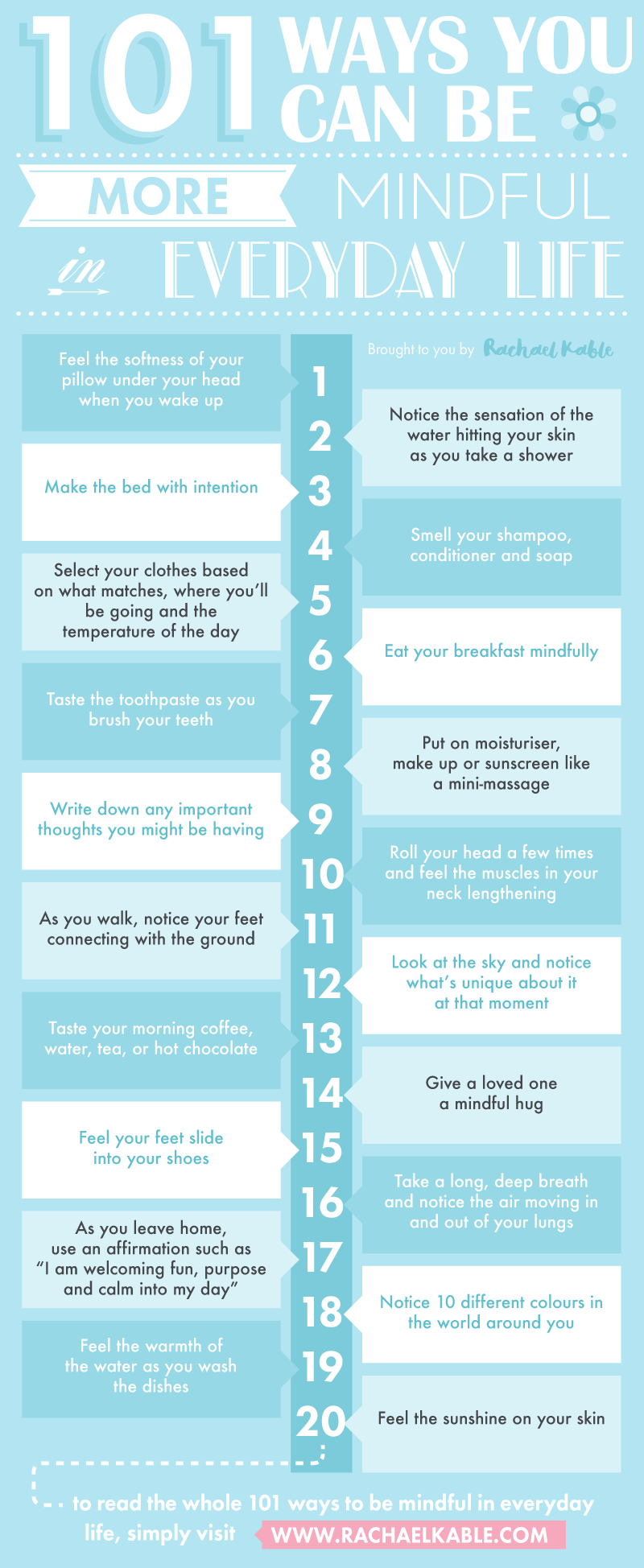101 Ways You Can Be More Mindful In Everyday Life Mindfulness Mindfulness Meditation Mindfulness Exercises