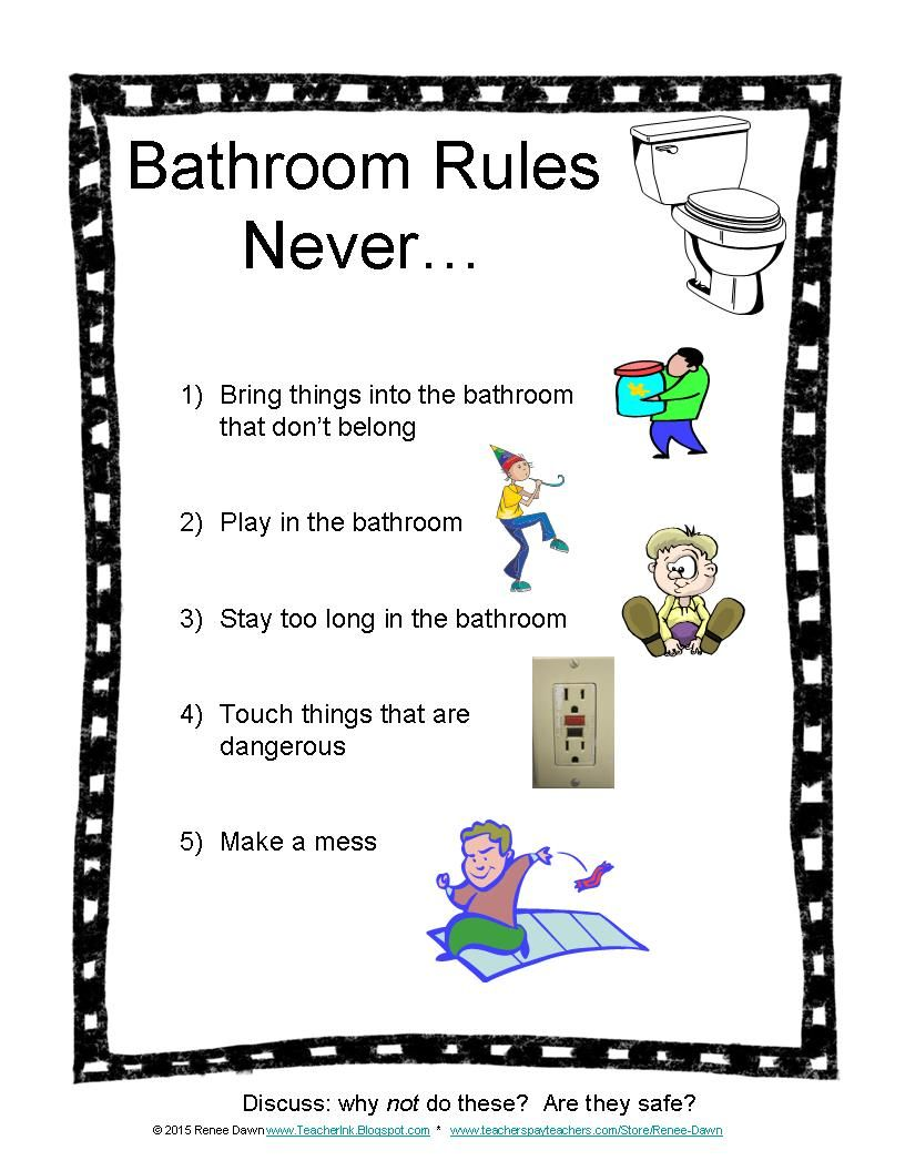 Bathroom Rules Photos Routines Signs Safety Bathroom Passes And Sign Out Sheet This