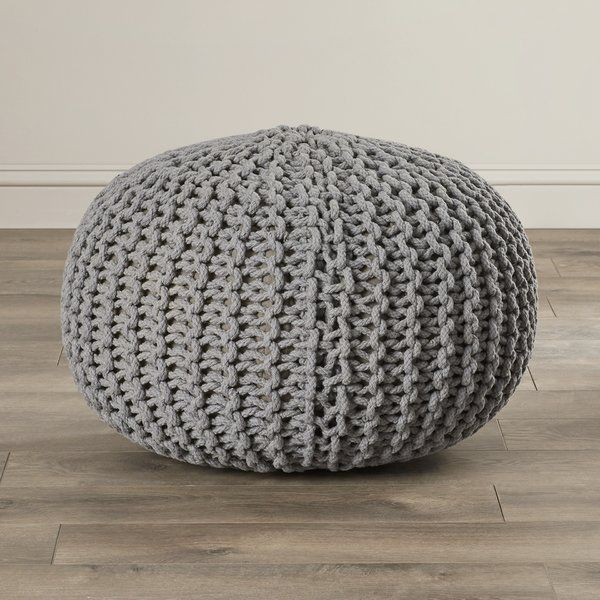 Intricately Knit And Striking In Its Design, The Kahn Sphere Pouf Ottoman  Is Bound To