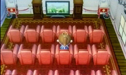 Movie Theater With Images Animal Crossing Happy Home